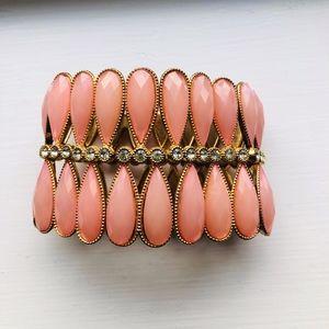 Charming Charlie Coral Cuff Bracelet